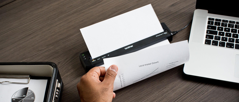PJ мобилен принтер за документи, отпечатващ документ
