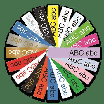 Различни цветове етикети