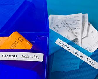 Джобове за документи с етикети, Brother етикетен принтер.