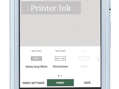 Design&Print приложение - отпечатване на етикета