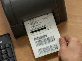 Печат на етикет с баркод на Brother TD-4D принтер