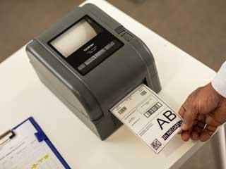 Етикет, отпечатан на принтер за етикети Brother TD-4D.