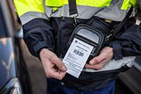 PACC003 защитен калъф на принтер, използван от служител