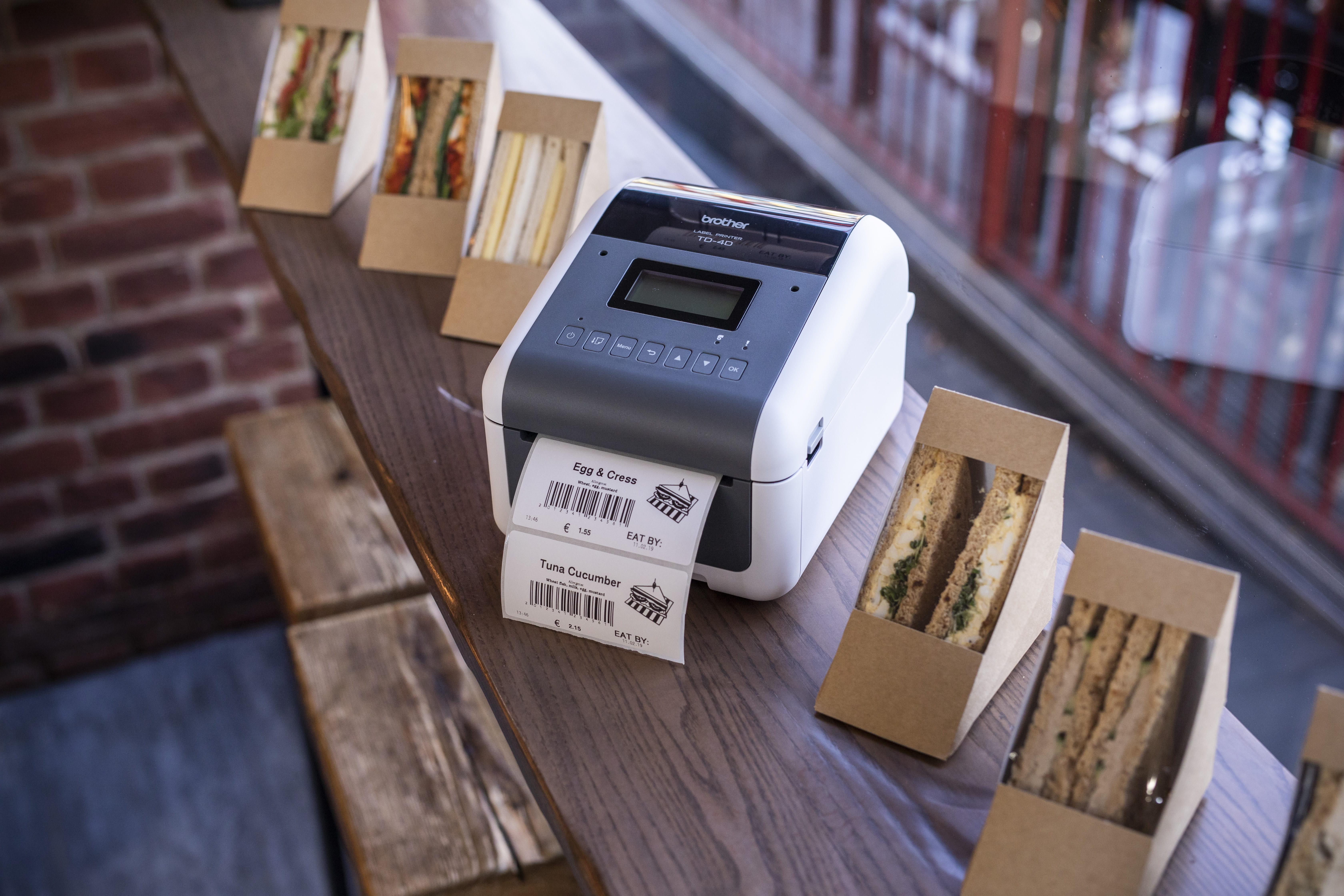 TD-4D печат на етикети в областта на храните