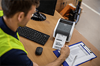 Brother TD-4520 печат на етикети за доставка и разписки