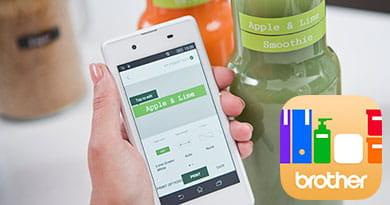 Отпечатване на етикети чрез мобилното приложение