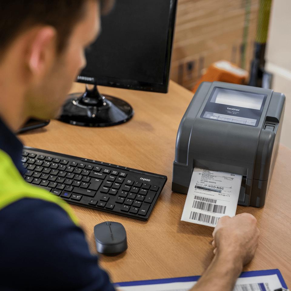 TD-4420TN термо-трансферен настолен етикетен принтер 6