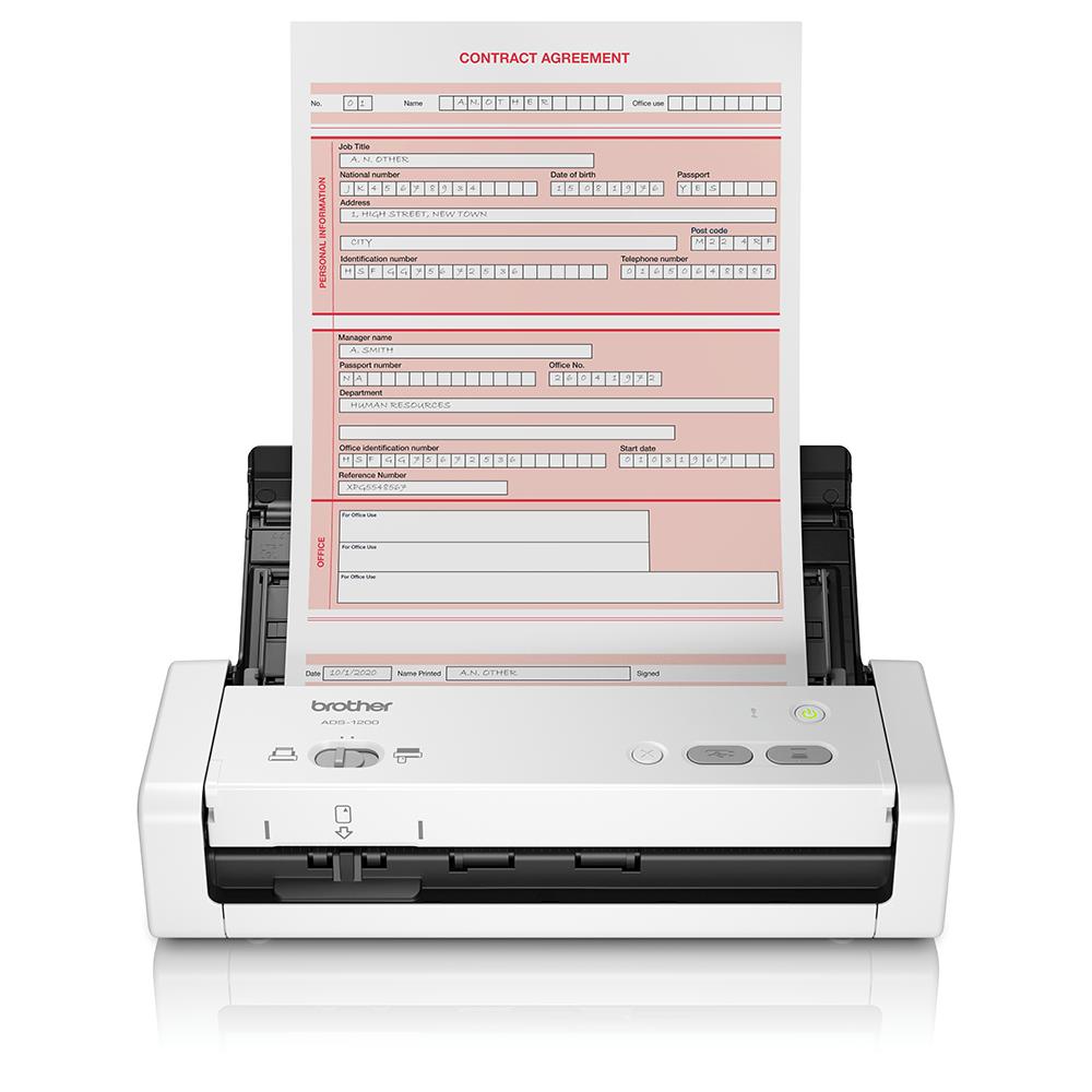 ADS-1200 - преносим, компактен документен скенер.