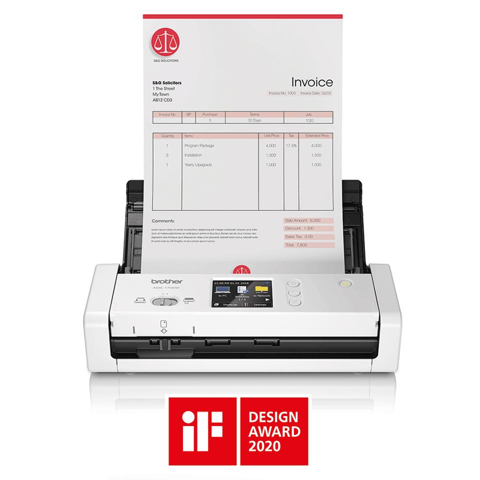 ADS-1700W - компактен безжичен документен скенер 4