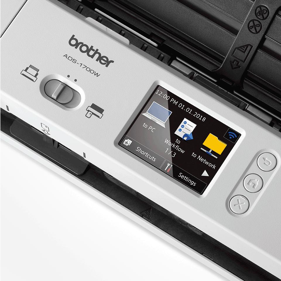 ADS-1700W - компактен безжичен документен скенер 8