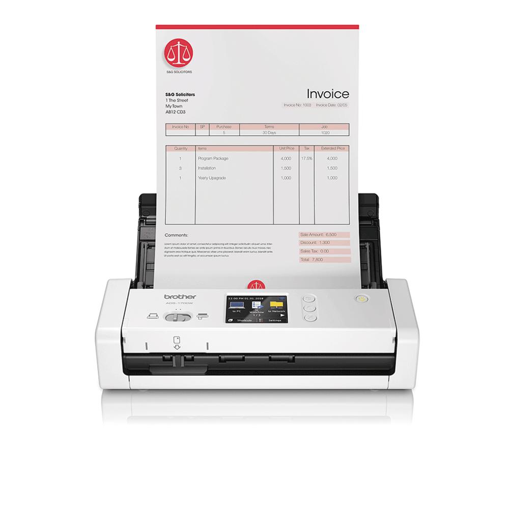 ADS-1700W - компактен безжичен документен скенер
