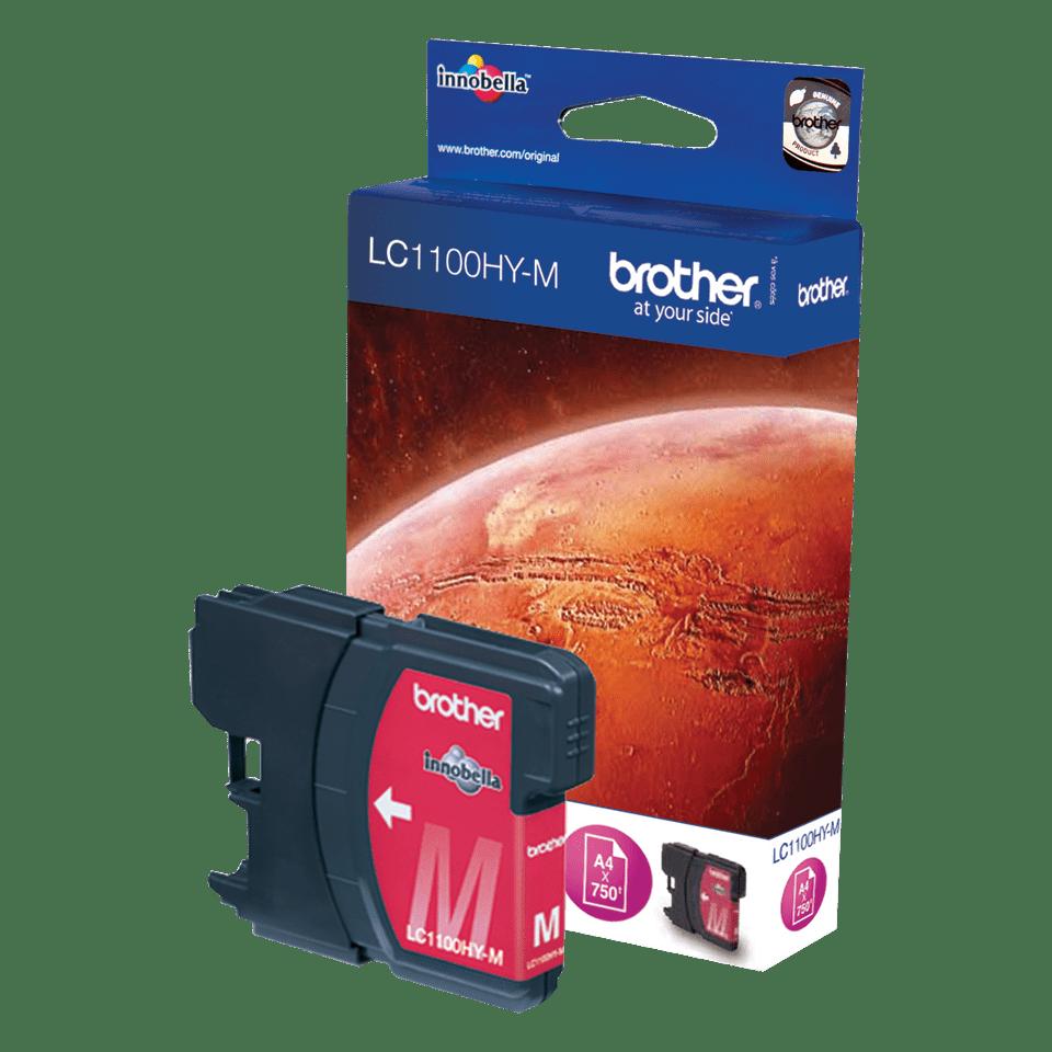 Оригинална мастилница с голям капацитет Brother LC1100HYM – червена