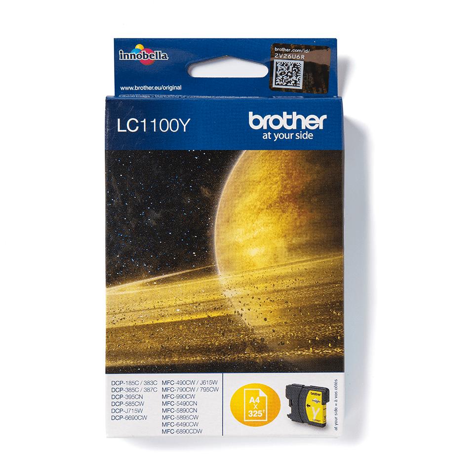 Brother LC1100Y касета с жълто мастило