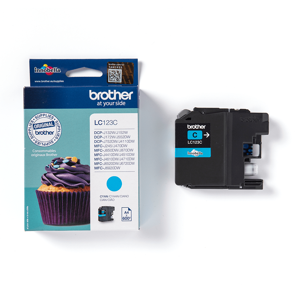 Brother LC123C касета със синьо мастило 2
