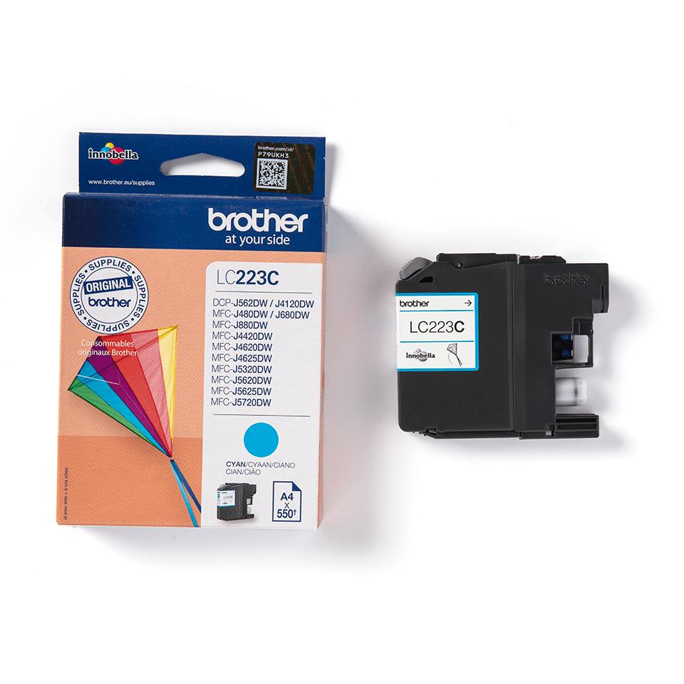 Brother LC223C - касета със синьо мастило 3