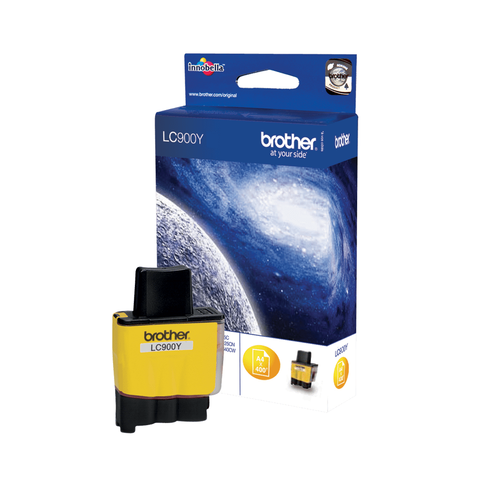 Оригинална мастилница Brother LC900Y – жълта 2