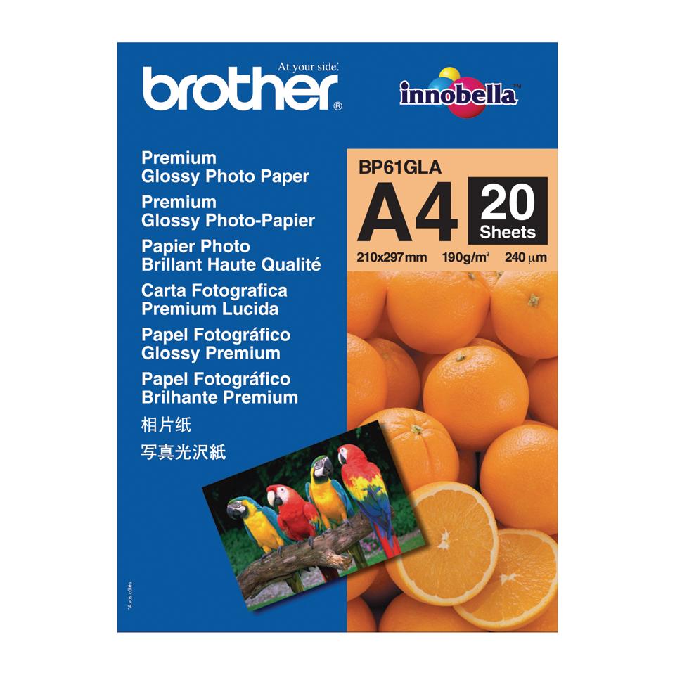 Оригинална фотохартия Brother BP61GLA A4, гланц