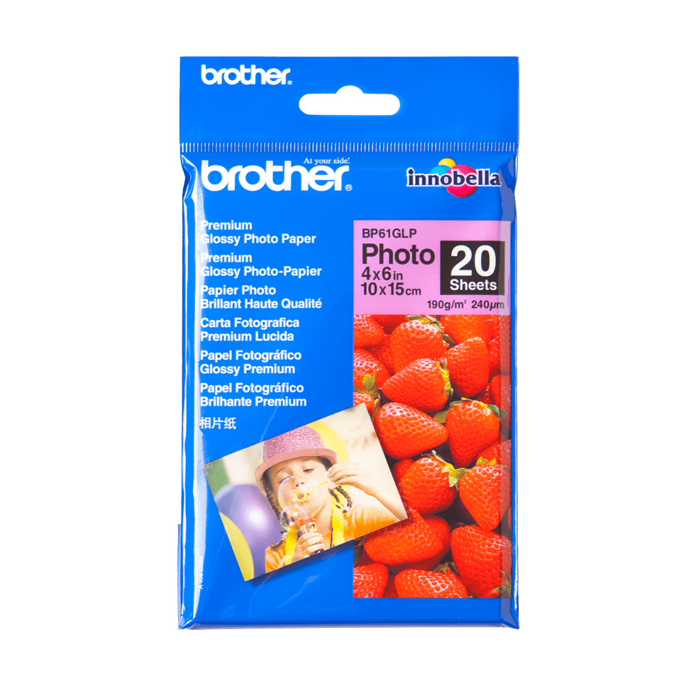 Оригинална фотохартия Brother BP61GLP 10 cm x 15 cm, гланц