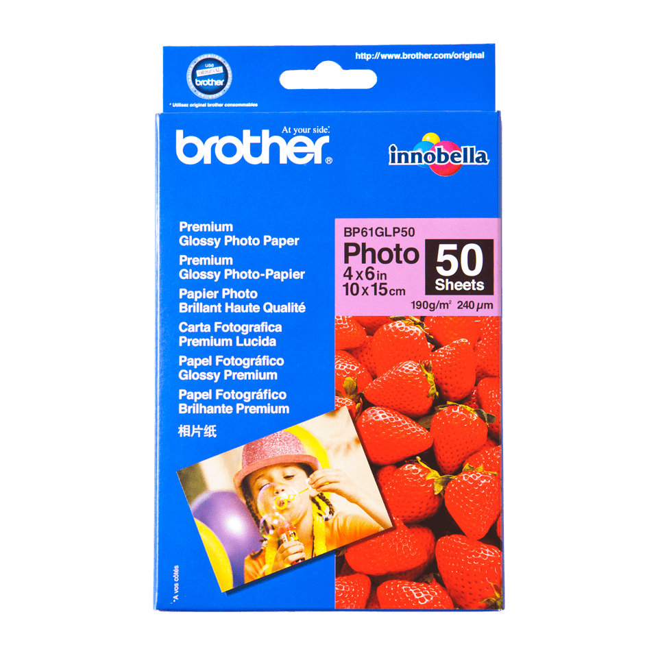 Оригинална фотохартия Brother BP61GLP50 10 cm x 15 cm, гланц