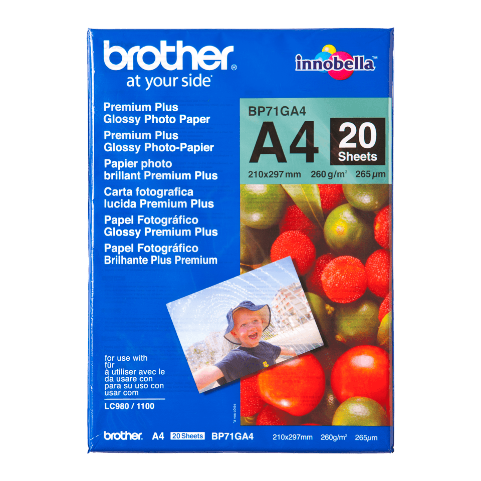 Оригинална фотохартия Brother BP71GA4 А4, гланц