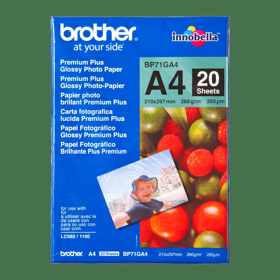 Оригинална фотохартия Brother BP71GA4 А4, гланц