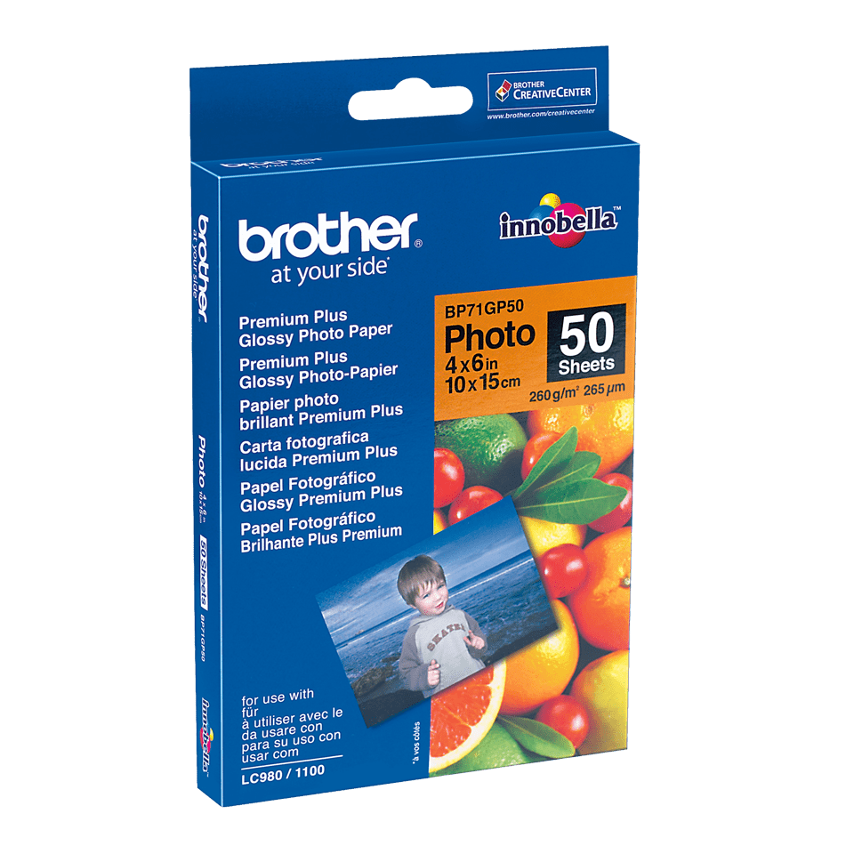 Оригинална фотохартия Brother BP71GP50 10 cm x 15 cm, гланц