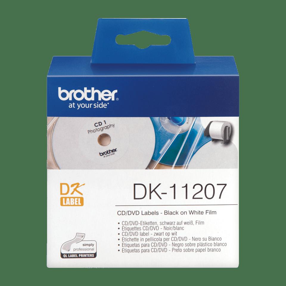 Оригинална лента с етикети Brother DK-11207 за маркиране на CD/DVD, диаметър 58mm