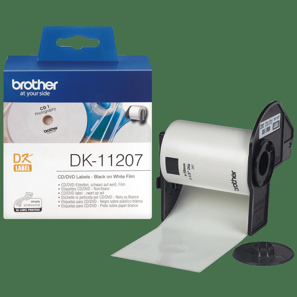 Оригинална лента с етикети Brother DK-11207 за маркиране на CD/DVD, диаметър 58mm 3