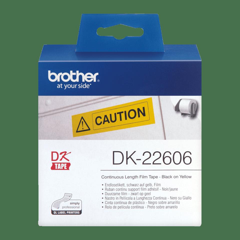 Brother DK-22606Непрекъсната лента, черен текст на бял фон 2