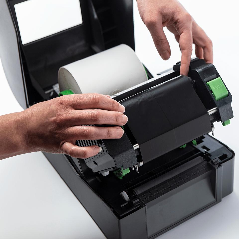 Brother премимум ролка за термо-трансферен печат, восък / смола BSP-1D300-110 3