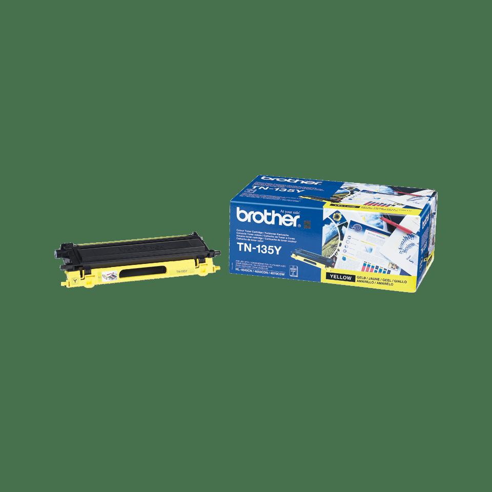 Оригинална тонер касета Brother TN-135Y – Жълто 2