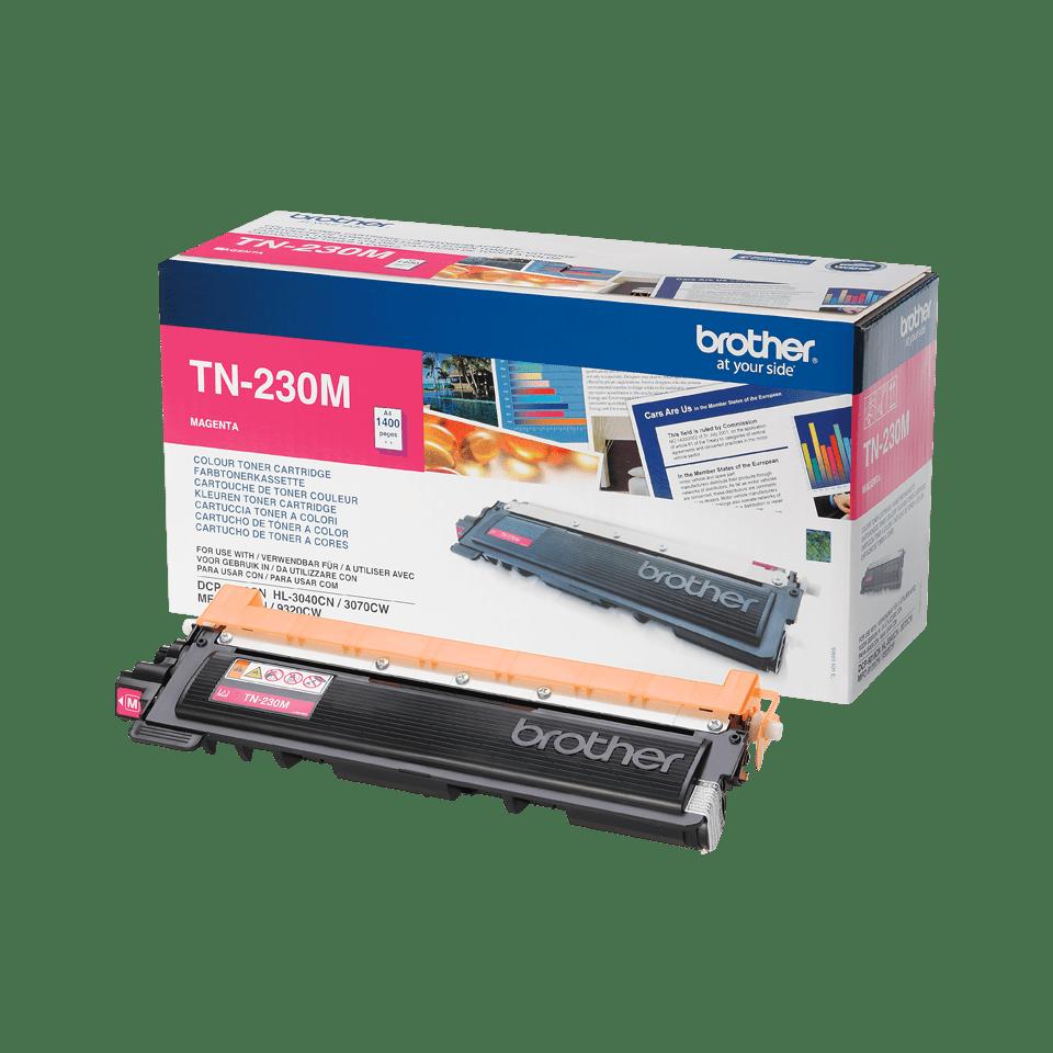 Оригинална тонер касета Brother TN230M – червен цвят