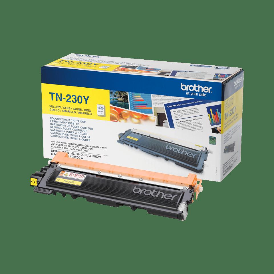 Оригинална тонер касета Brother TN230Y – жълт цвят