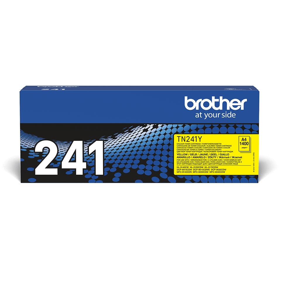 Оригинална тонер касета Brother TN241Y – жълт цвят 2