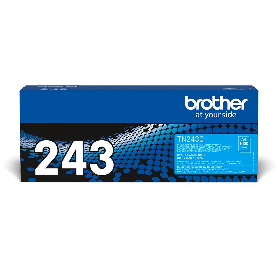 Оригинална тонер касета Brother TN-243C– сив цвят
