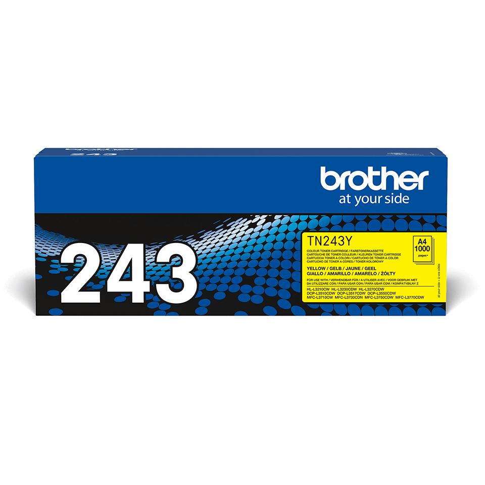 Оригинална тонер касета Brother TN-243Y – жълт цвят  2