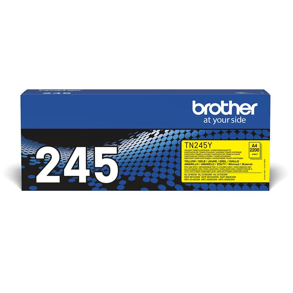 Оригинална тонер касета Brother TN245Y – жълт цвят 2