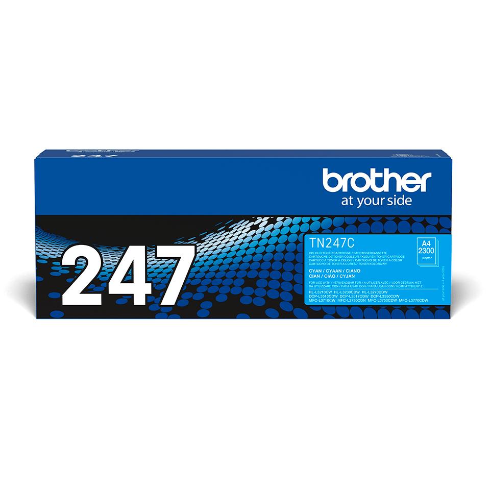 Оригинална тонер касета с голям капацитет Brother TN-247C – син цвят