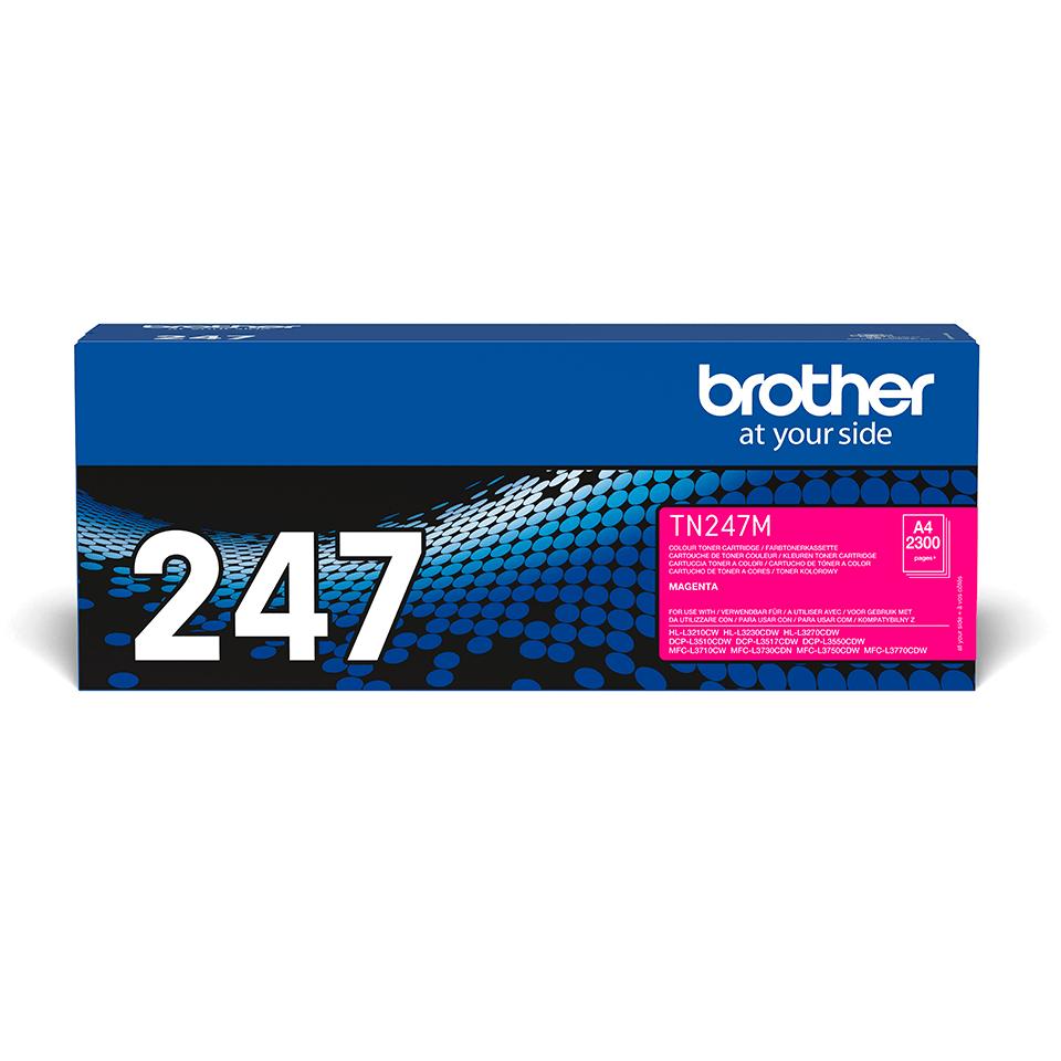 Оригинална тонер касета с голям капацитет Brother TN-247M – червен цвят
