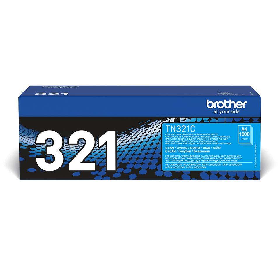 Оригинална тонер касета Brother TN321C – син цвят