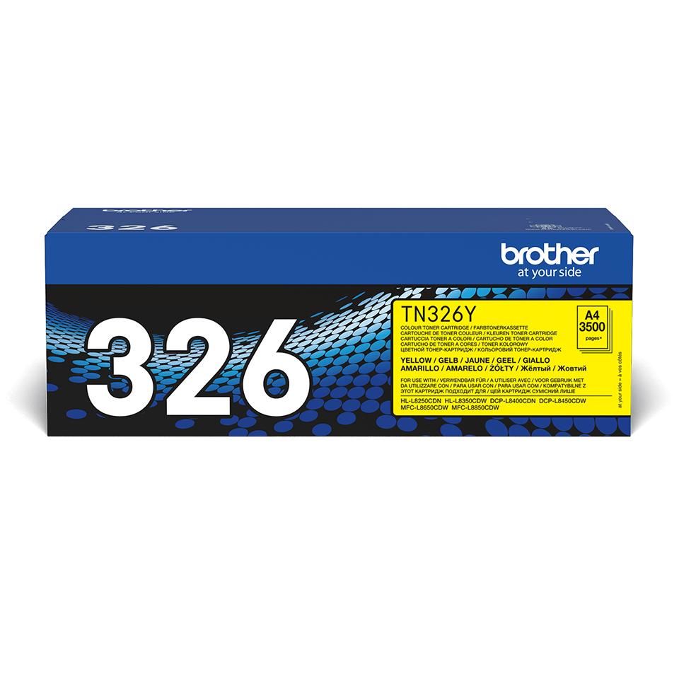 Оригинална тонер касета Brother TN326Y – жълт цвят