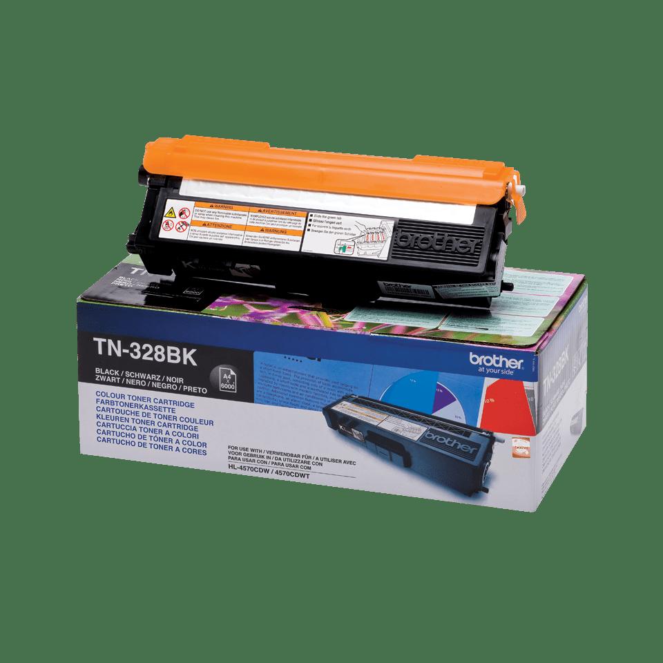 Оригинална тонер касета Brother TN328BK – черен цвят 2