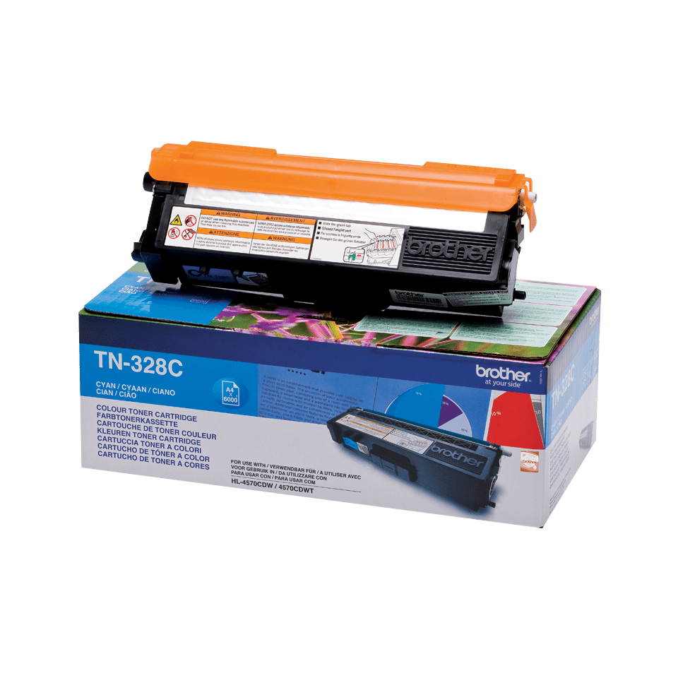 Оригинална тонер касета Brother TN328C – син цвят