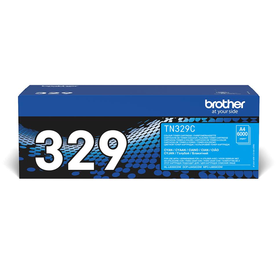 Оригинална тонер касета Brother TN329C – син цвят