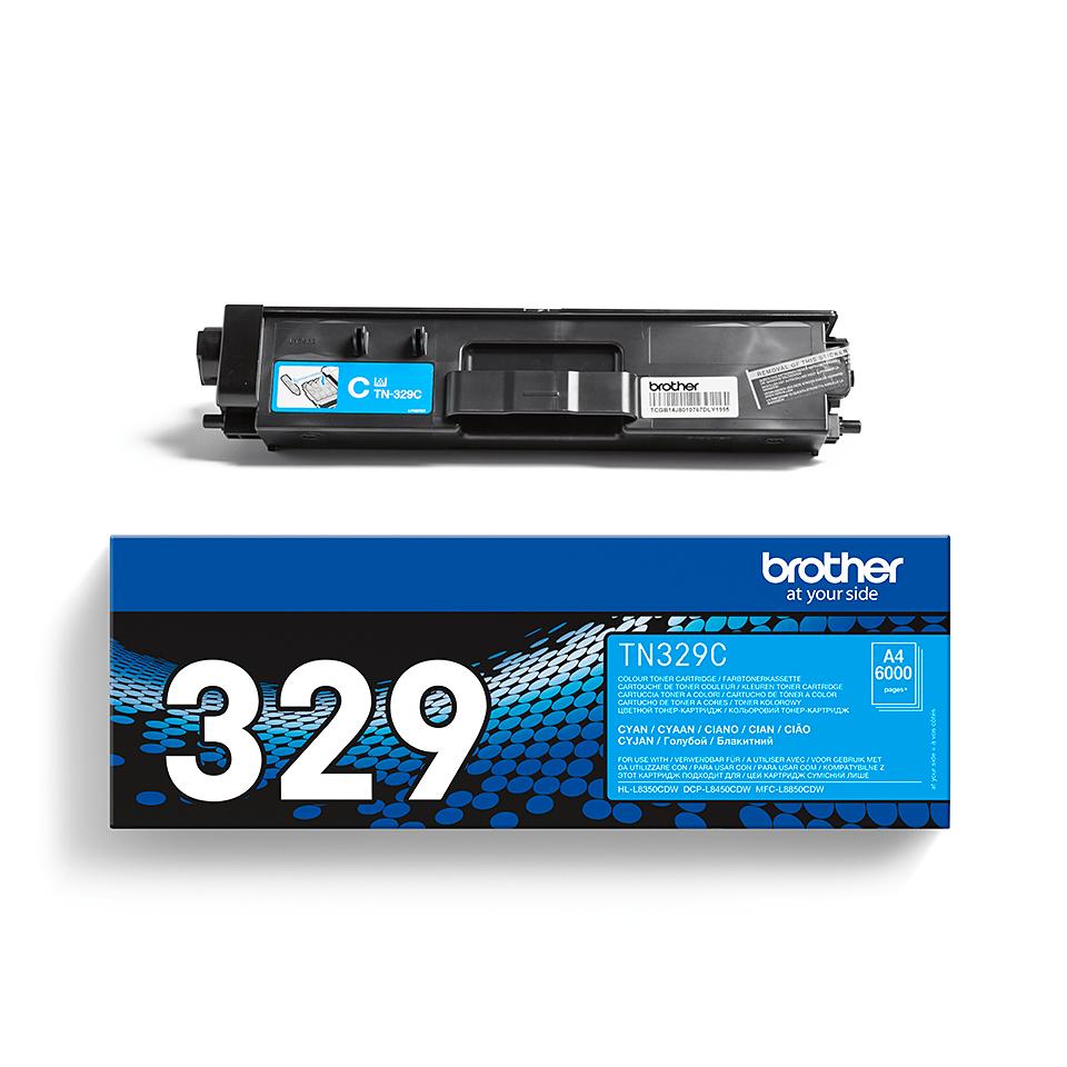Оригинална тонер касета Brother TN329C – син цвят 2