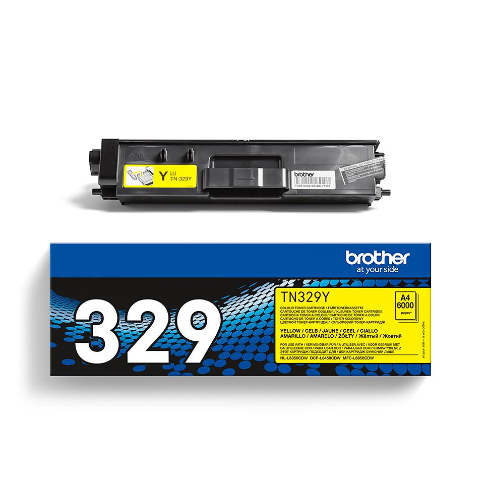 Оригинална тонер касета Brother TN329Y– жълт цвят 2