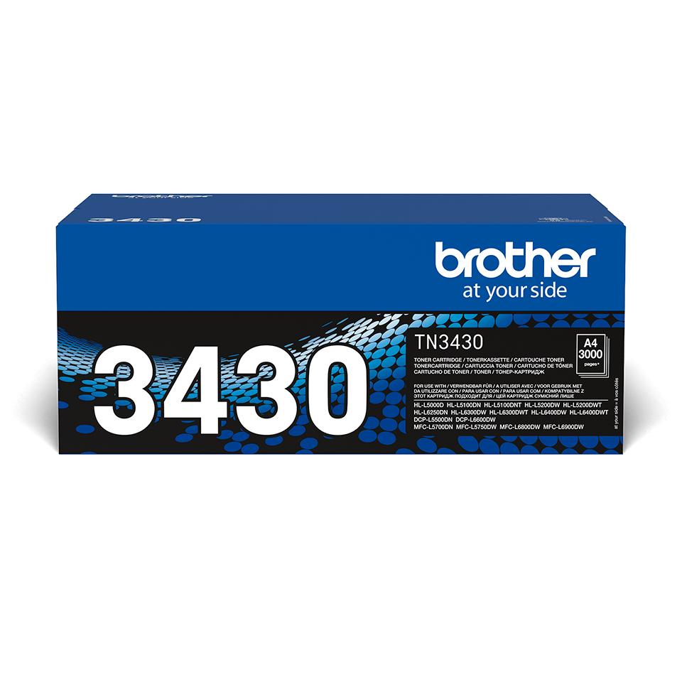 Оригинална тонер касета с голям капацитет Brother TN3430 – черен цвят
