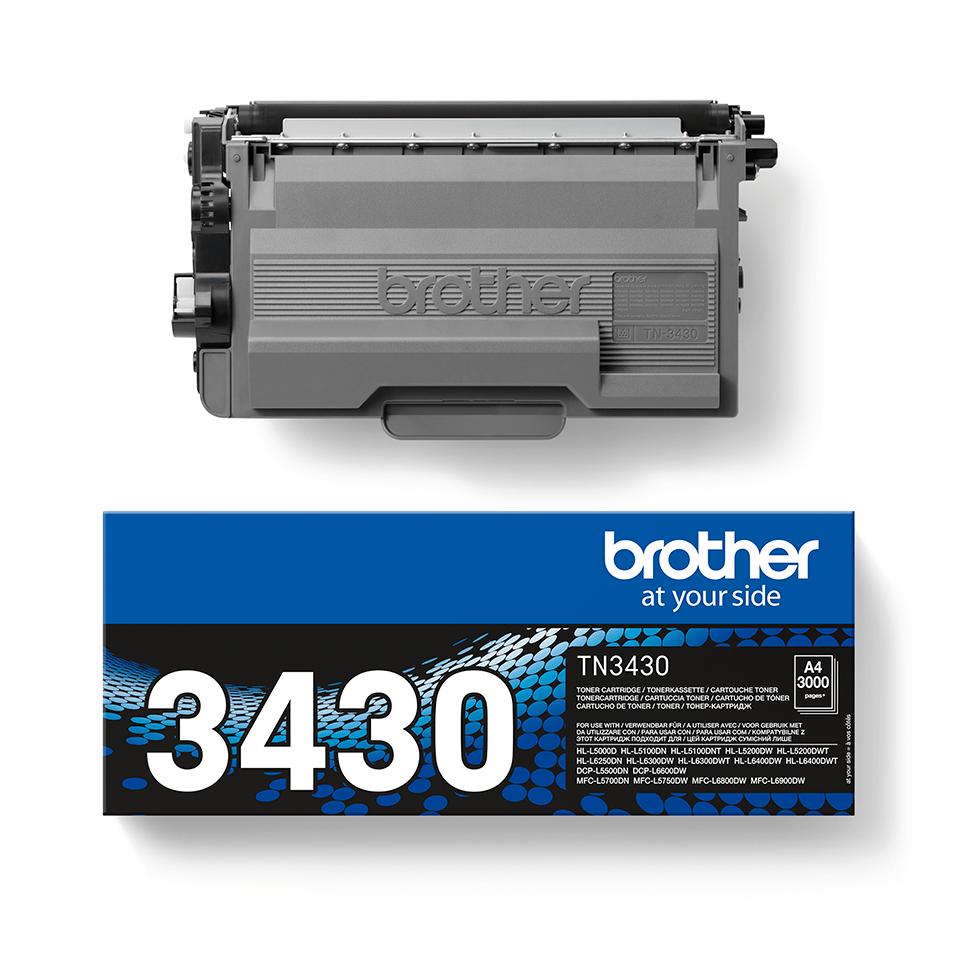 Оригинална тонер касета с голям капацитет Brother TN3430 – черен цвят 2