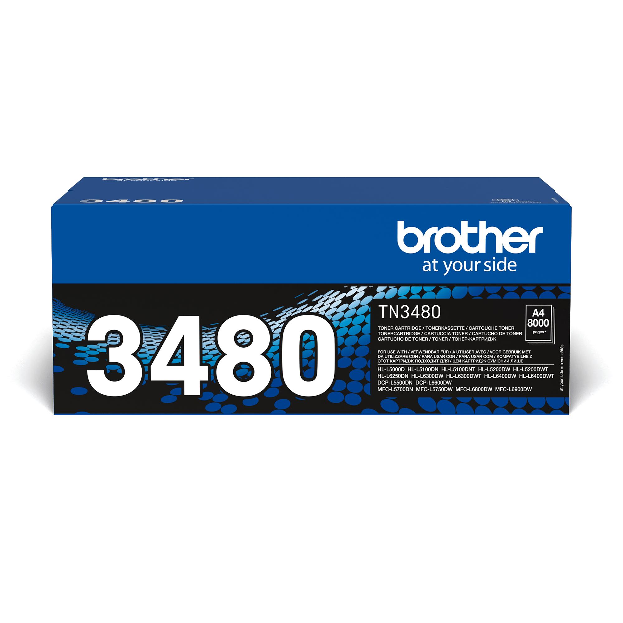 Оригинална тонер касета Brother TN3480 – черен цвят