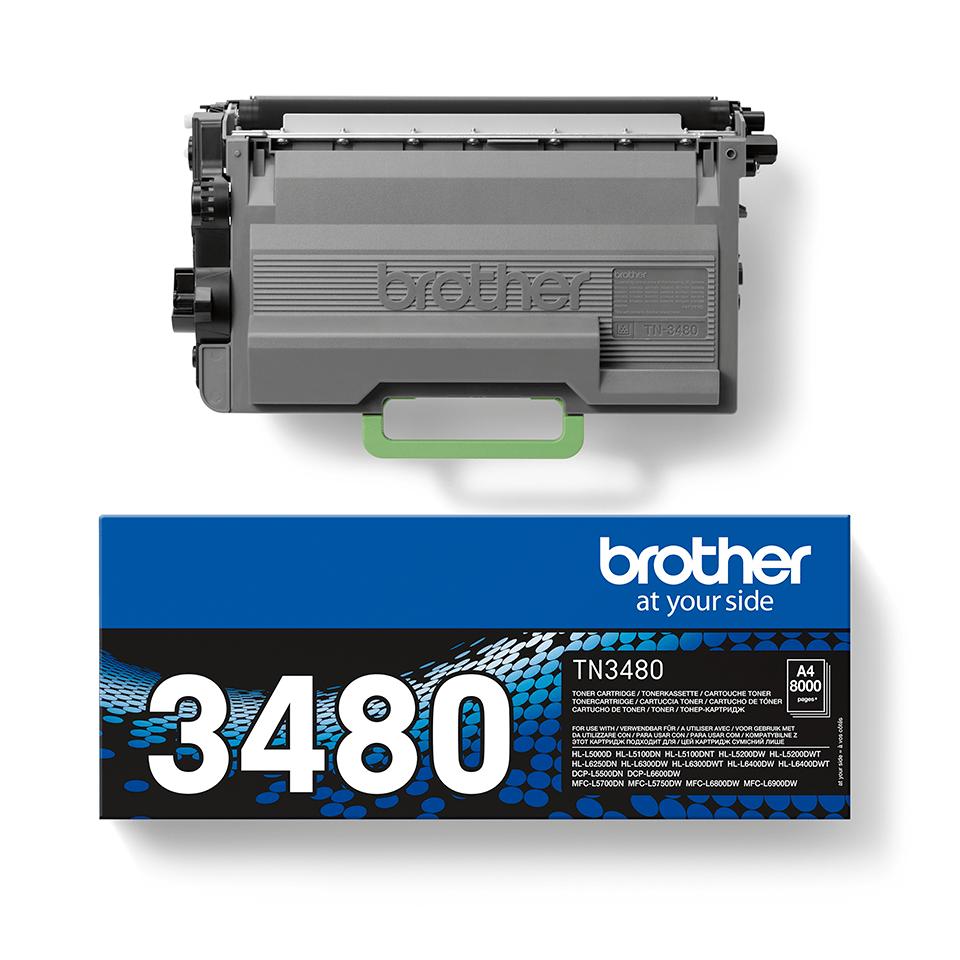 Оригинална тонер касета Brother TN3480 – черен цвят 2